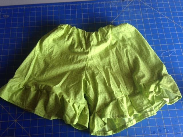 Green Ruffle Shorts