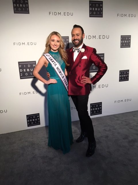 2017 FIDM fashion debut with Nick Verreos