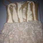 Front Gold Corset Dress (21014)