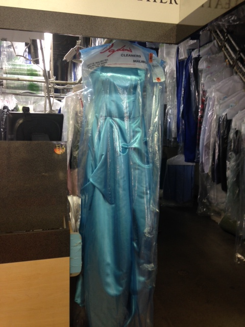 2015-Displayed Blue Ballgown at Malibu Ogden Dry Cleaners