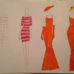 Orange Wedding Dress Sketches