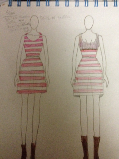 Drawing for Pink Dress